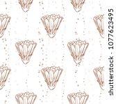vector seamless pattern of... | Shutterstock .eps vector #1077623495