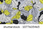 floral seamless pattern  fiddle ... | Shutterstock .eps vector #1077635465