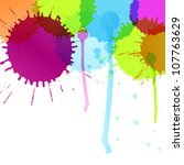 Colorful splashes vector background - stock vector