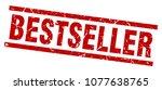 square grunge red bestseller... | Shutterstock .eps vector #1077638765