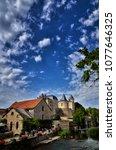 verteuil sur charente is a... | Shutterstock . vector #1077646325