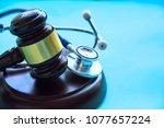 Gavel And Stethoscope. Medical...