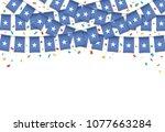 somalia flags garland white... | Shutterstock .eps vector #1077663284