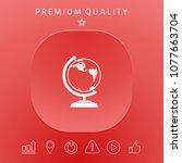 globe symbol   icon | Shutterstock .eps vector #1077663704