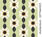 seamless pattern with flowers... | Shutterstock .eps vector #1077664325