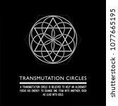 transmutation circle. black... | Shutterstock .eps vector #1077665195