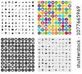 100 film icons set vector in 4... | Shutterstock .eps vector #1077665969
