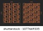 laser cutting interior set....   Shutterstock .eps vector #1077669335