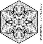 beautiful mandala pattern.... | Shutterstock .eps vector #1077675179
