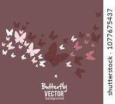 beautiful summer background... | Shutterstock .eps vector #1077675437