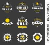 summer season sale badges and... | Shutterstock .eps vector #1077698501