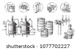 vector beer infographics with... | Shutterstock .eps vector #1077702227