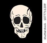 skull vector illustration. | Shutterstock .eps vector #1077711209