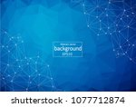 geometric dark blue polygonal... | Shutterstock .eps vector #1077712874