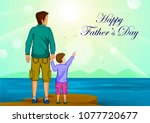 happy father's day greeting... | Shutterstock .eps vector #1077720677