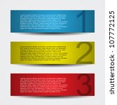 header designs with numbers | Shutterstock .eps vector #107772125