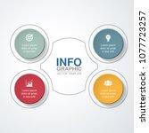 vector infographic template for ... | Shutterstock .eps vector #1077723257