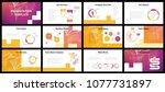 business presentation templates.... | Shutterstock .eps vector #1077731897