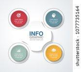 vector infographic template for ... | Shutterstock .eps vector #1077735164