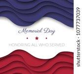 memorial day banner template...   Shutterstock .eps vector #1077737039