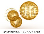keyword of . gold color 3d... | Shutterstock . vector #1077744785