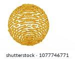 keyword of . gold color 3d... | Shutterstock . vector #1077746771
