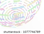 colorful 3d rendering.... | Shutterstock . vector #1077746789