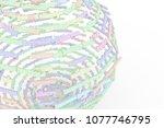 cgi typography  sphere or... | Shutterstock . vector #1077746795