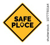 squared yellow safe place... | Shutterstock .eps vector #1077750164