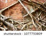most south sanctuary prasat...   Shutterstock . vector #1077753809