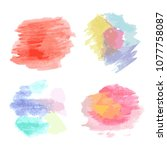 set of multicolored spots... | Shutterstock .eps vector #1077758087