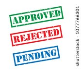 approved  rejected  pending... | Shutterstock .eps vector #1077766301