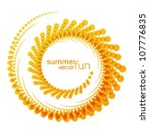 vector sun, abstract summer fun illustration ,logo