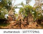 most south sanctuary prasat...   Shutterstock . vector #1077772961