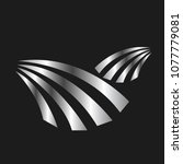 silver emblem modern luxury | Shutterstock .eps vector #1077779081