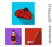 country scotland flat icons in... | Shutterstock .eps vector #1077779111