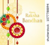 raksha bandhan vector... | Shutterstock .eps vector #1077788894