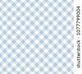 light blue gingham seamless... | Shutterstock .eps vector #1077799004