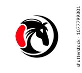 horse logo template | Shutterstock .eps vector #1077799301