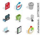 portable technology icons set....   Shutterstock .eps vector #1077802805
