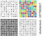 100 europe icons set vector in... | Shutterstock .eps vector #1077802817