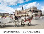 krakow  poland   august 27 ... | Shutterstock . vector #1077804251