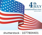 independence day usa  4 th july ... | Shutterstock .eps vector #1077804401