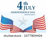 independence day usa  4 th july ... | Shutterstock .eps vector #1077804404