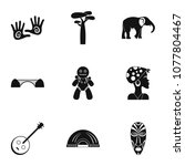 south africa icons set. simple... | Shutterstock .eps vector #1077804467