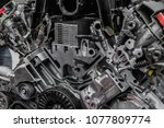 cross section of an automobile... | Shutterstock . vector #1077809774