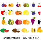set of different kinds of... | Shutterstock .eps vector #1077815414