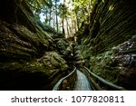 witches gulch path off the wisconsin river in the wisconsin dells