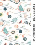 cute seamless pattern with... | Shutterstock .eps vector #1077821561