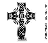 Celtic Cross With White...